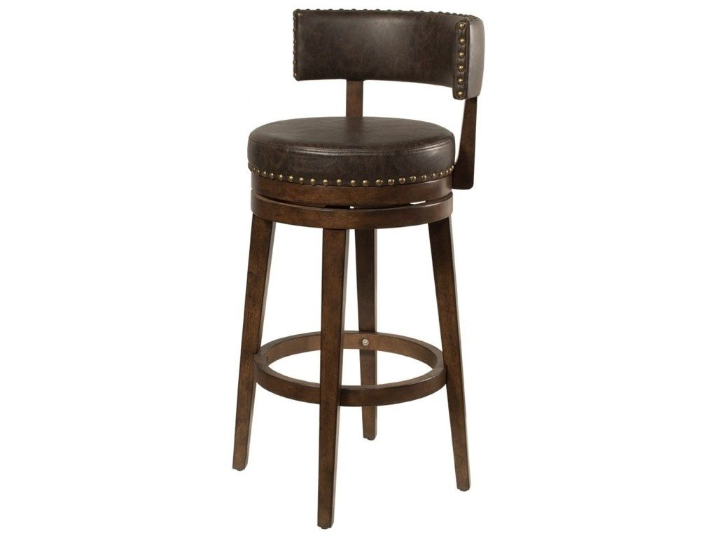 Lawton Low Back Swivel Bar Stool By Hillsdale At Godby Home Furnishings Swivel Counter Stools Bar Stools Counter Stools
