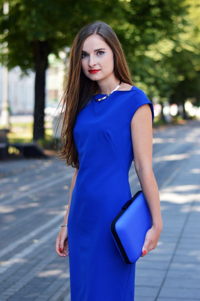 Long dress royal blue xs