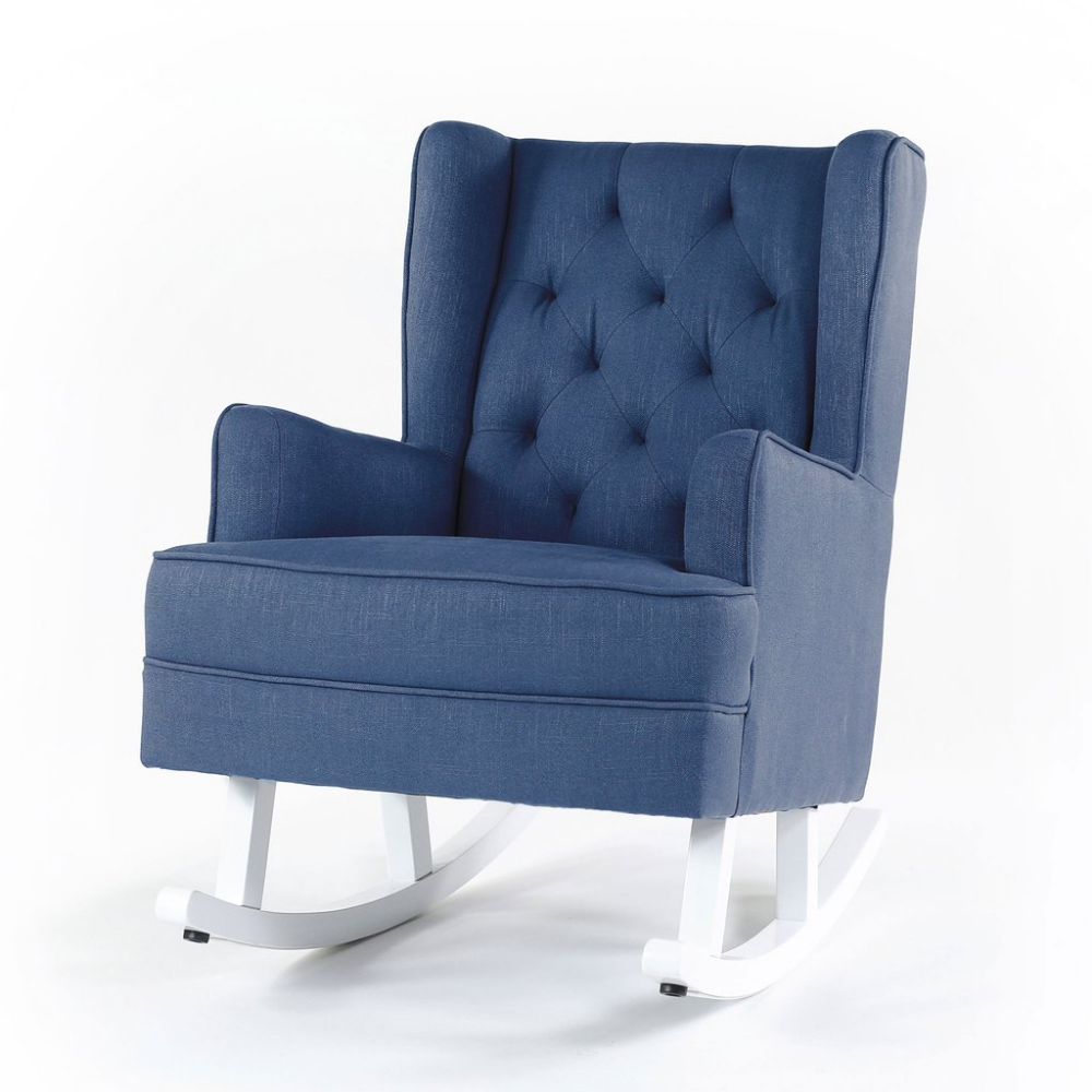 Isla Wingback Rocking Chair Navy White Legs in 2020