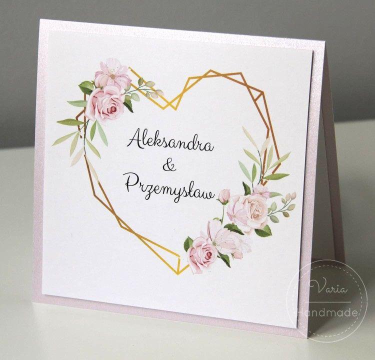 Zaproszenie Slubne Z Geometrycznym Sercem Dream Wedding Wedding Party