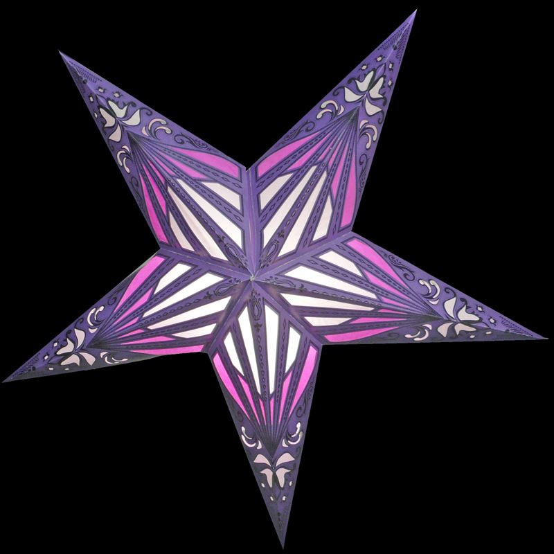 Purple Sunshine Window Star Lantern