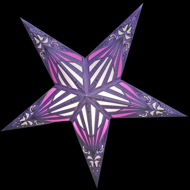 purple stars | Purple Sunshine Window Star Lantern