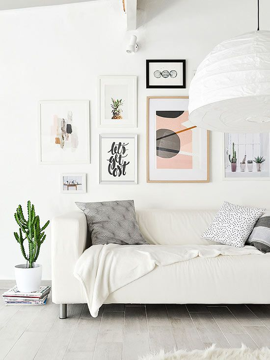 Gallery Wall Ideas To Copy Asap Perfect Gallery Wall Living Room Scandinavian Home Decor