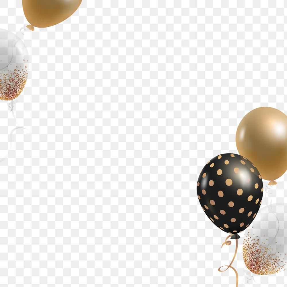 Festive Golden Black Balloons Png In Transparent Background Free Image By Rawpixel Com Kappy Kappy Black Balloons Balloons Free Illustrations