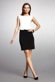 Blouson Shutter Skirt Dress
