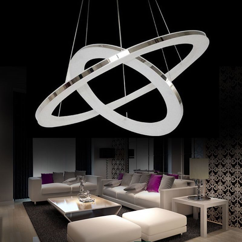 Acrylic Led Ring Chandelier Pendant Lamp Ceiling Light: Modern Ring Nature Acrylic LED Ceiling Pendant Lamp DIY