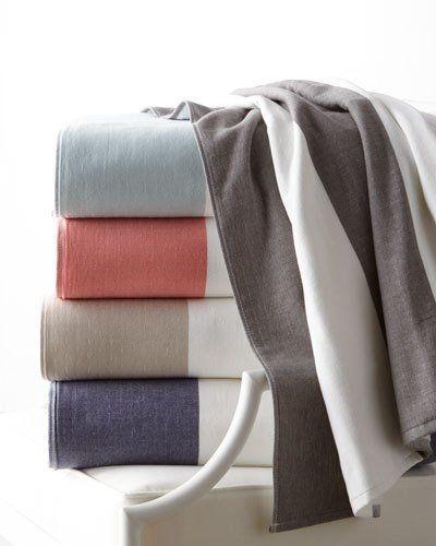 Kassatex Block Stripe Beach Towel Beach Towel Towel Luxury Towels