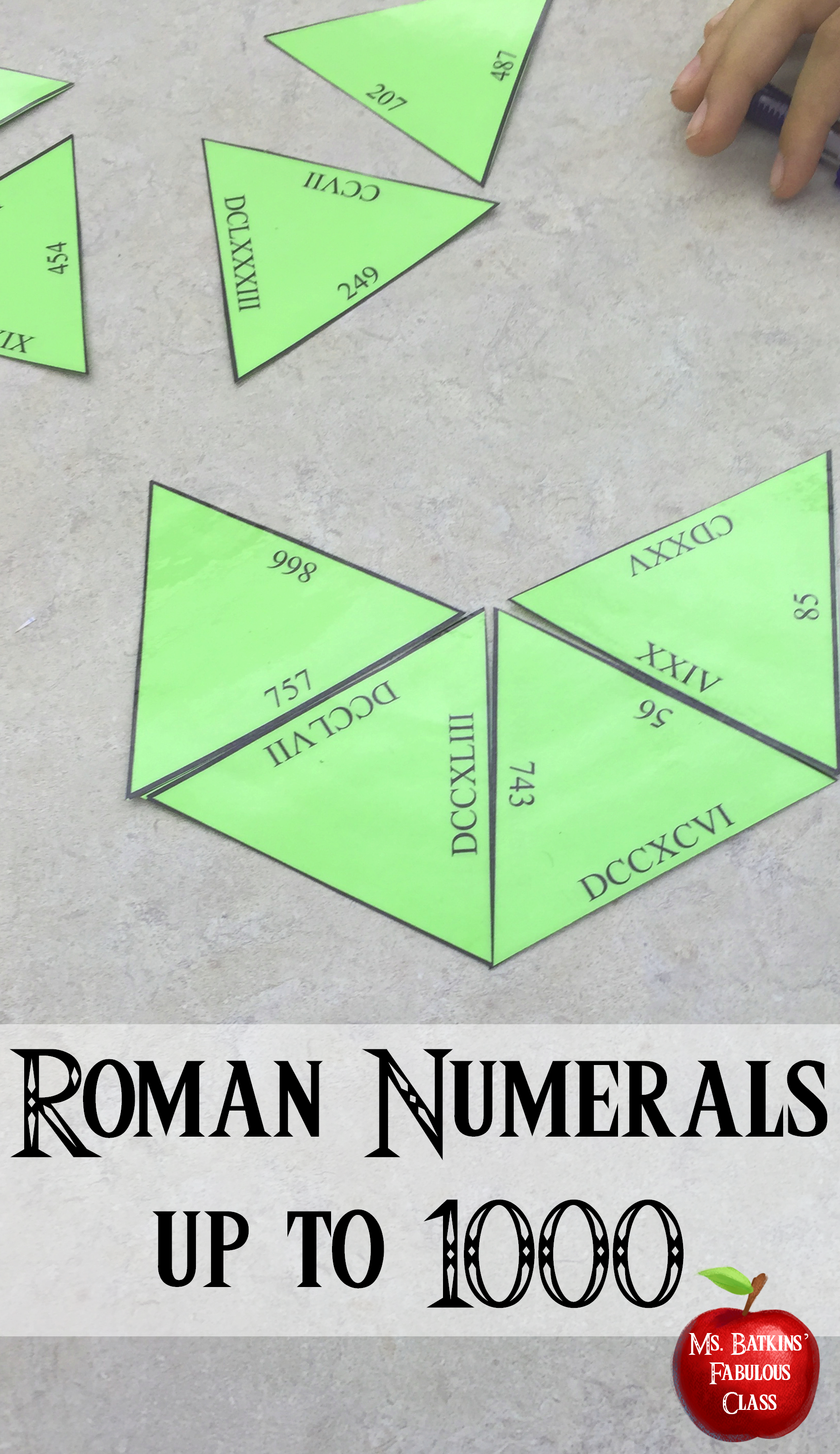 Roman Numerals To Math Center Activity