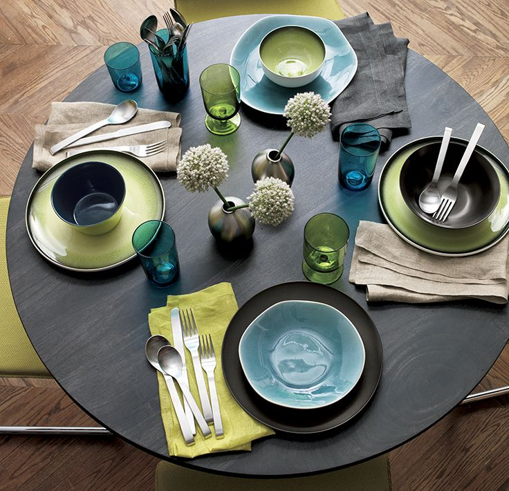 mix and match dinnerware in shades of blue green and brown & mix and match dinnerware in shades of blue green and brown | Home ...
