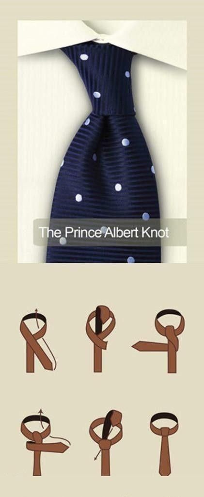 How To Tie The Prince Albert Knot For Your Necktie With Images