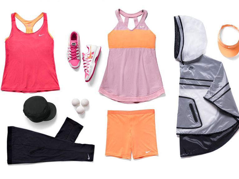 Maria Sharapovas French Open 2014 Kit includes Summer Premier Maria Tank  in GeraniumAtomic. Tennis OutfitsNike ...