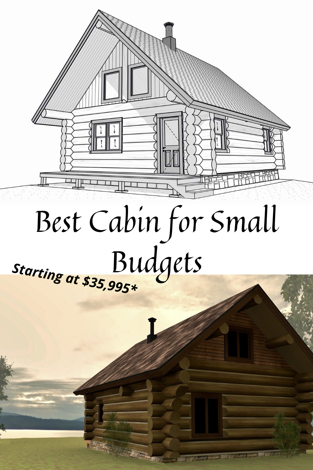 Best Log Cabin Floor Plan For Small Budgets Cabin Floor Plans Log Cabin Floor Plans Log Home Floor Plans