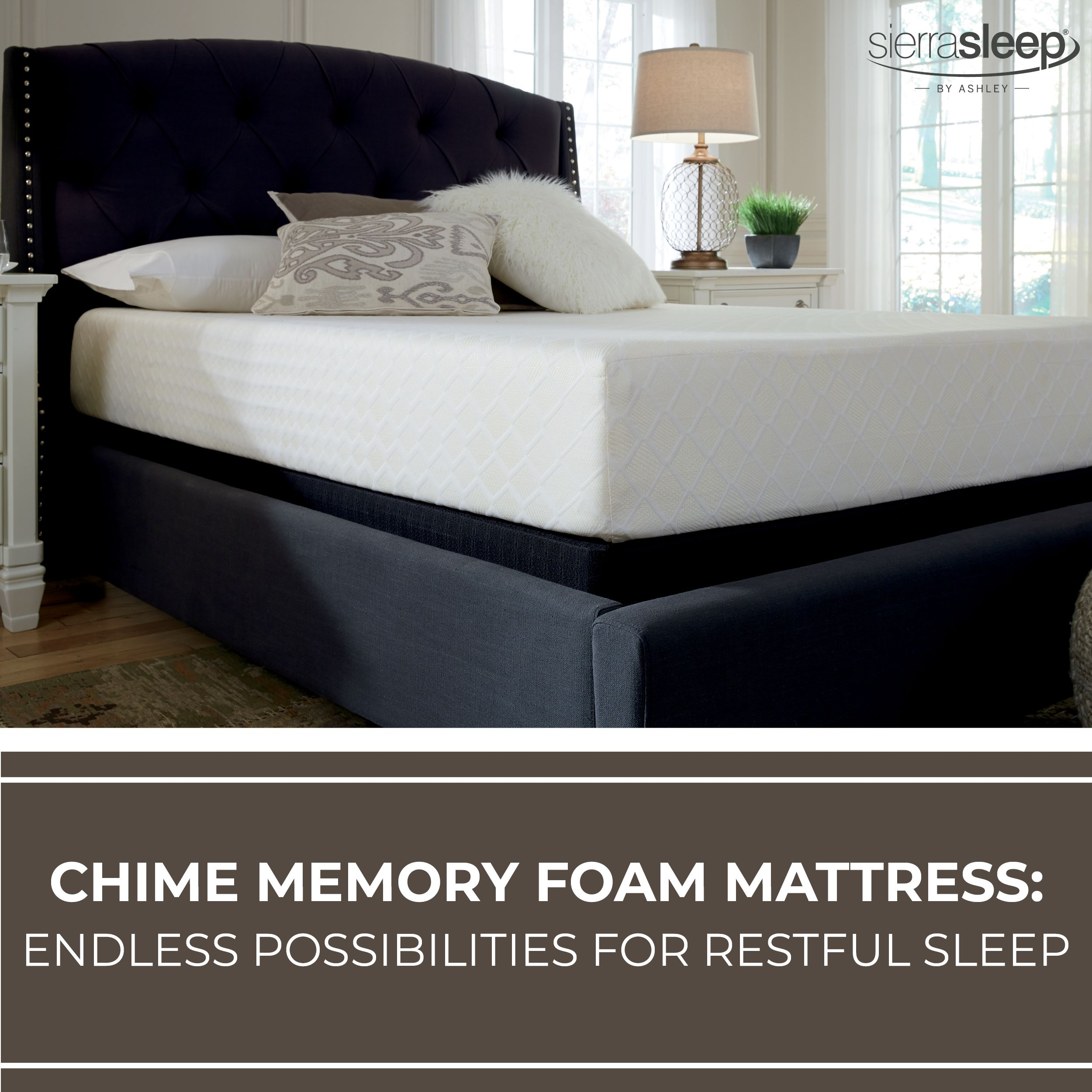 chime memory foam luxury firm sierra sleep mattress by ashley