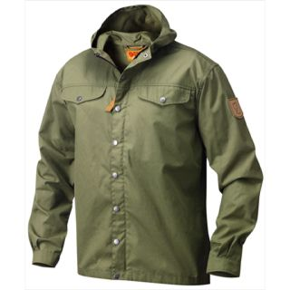 Fjällräven's most classic jacket, here in its original design after founder Åke Nordin sewed the first jacket using a durable tent fabric at home in Örnsköldsvik in 1968. This simple early version was created for climbers and has two breast pockets. (The side pockets on the Greenland Jacket were added in a later version after the jacket grew in popularity among a wider outdoor public in the 1970s.) Fixed hood, zipper with flap in the front and buttoned adjustments in the sleeve cuffs. The…