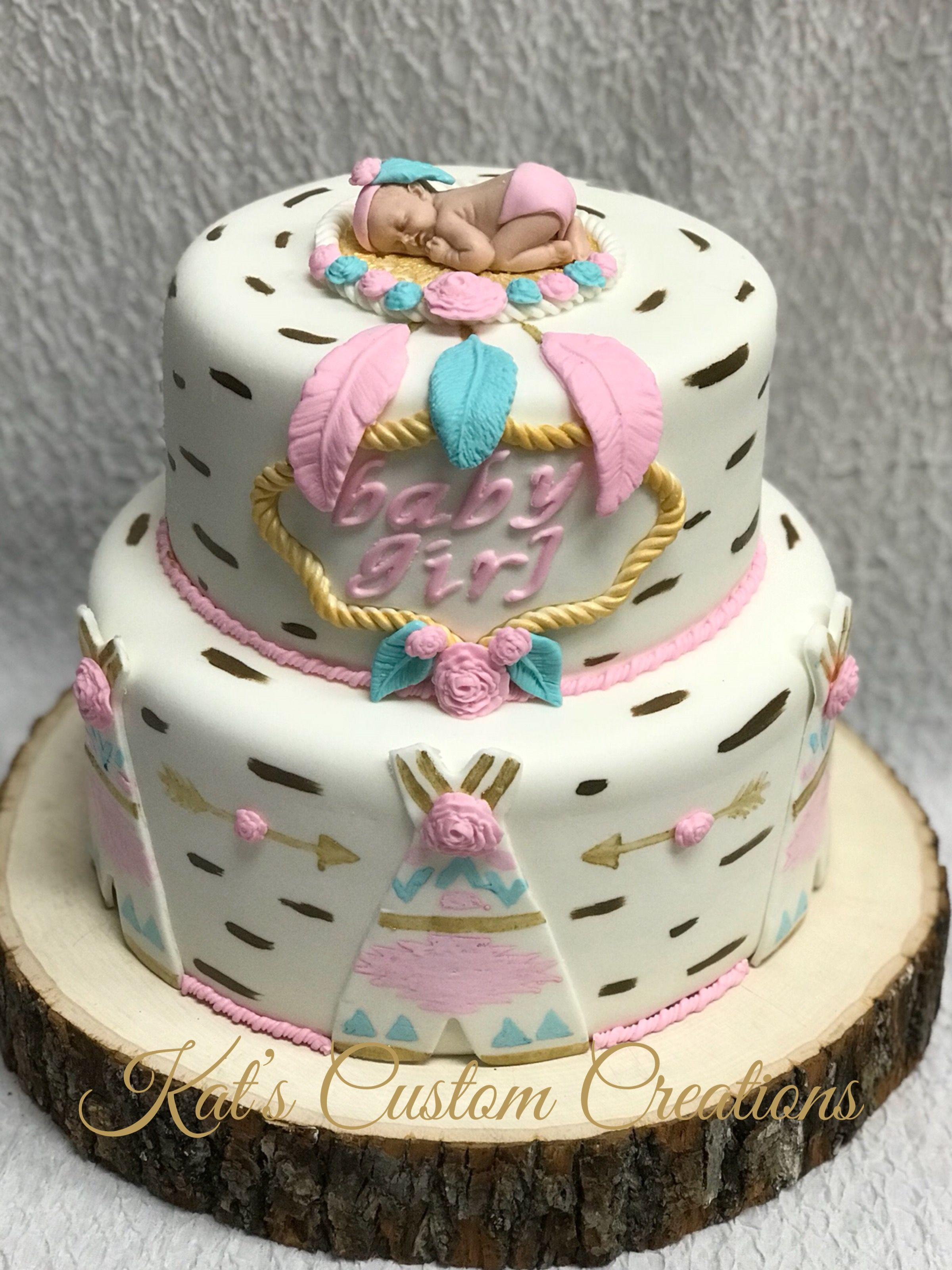 Tribal baby shower cake Baby Shower Cakes Pinterest