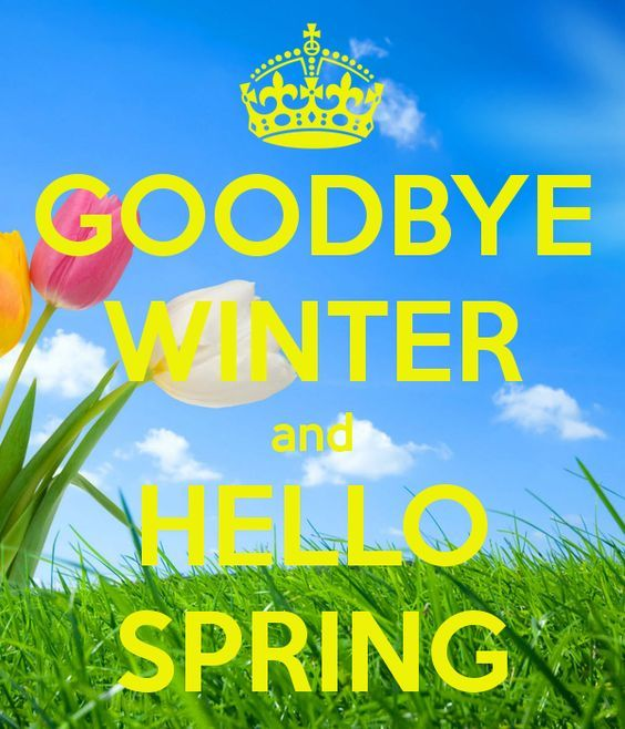 GOODBYE WINTER And HELLO SPRING   KEEP CALM AND CARRY ON Image Generator    Brought To
