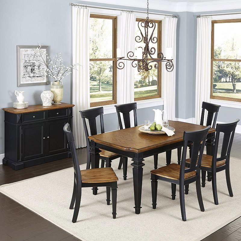 Home Styles Americana 8-piece Dining & Buffet Set, Multicolor