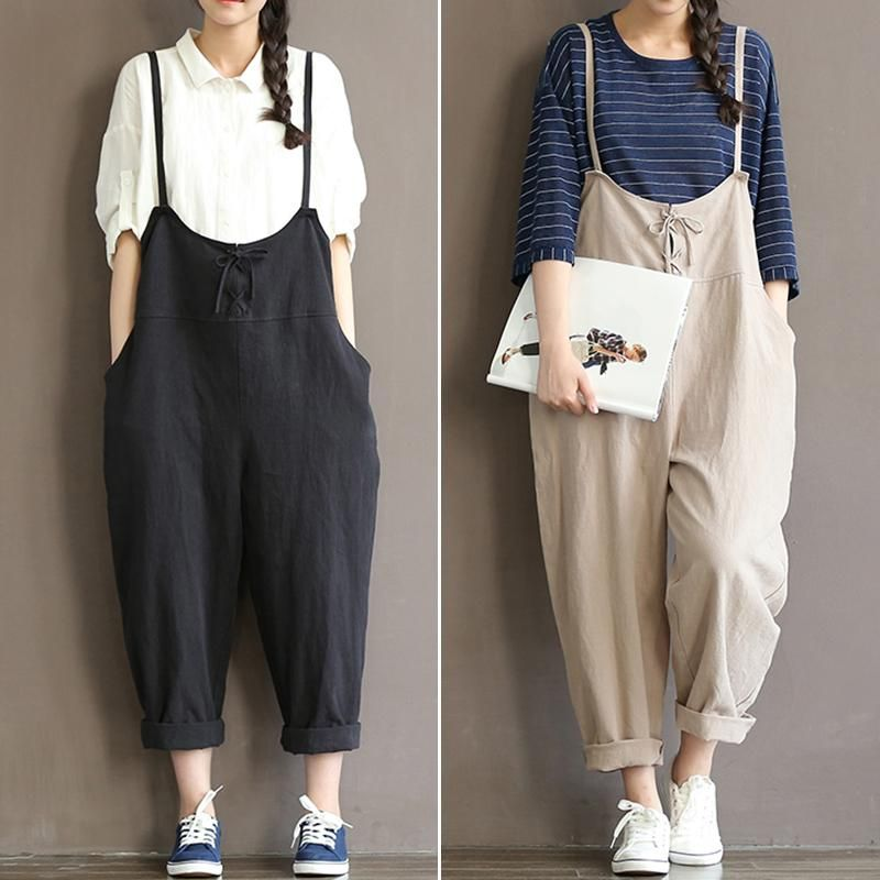 11b84670bd8d Celmia 2018 Vintage Rompers Womens Jumpsuits Sleeveless Backless Casual  Linen Overalls Retro Pants Strapless Playsuits Oversized