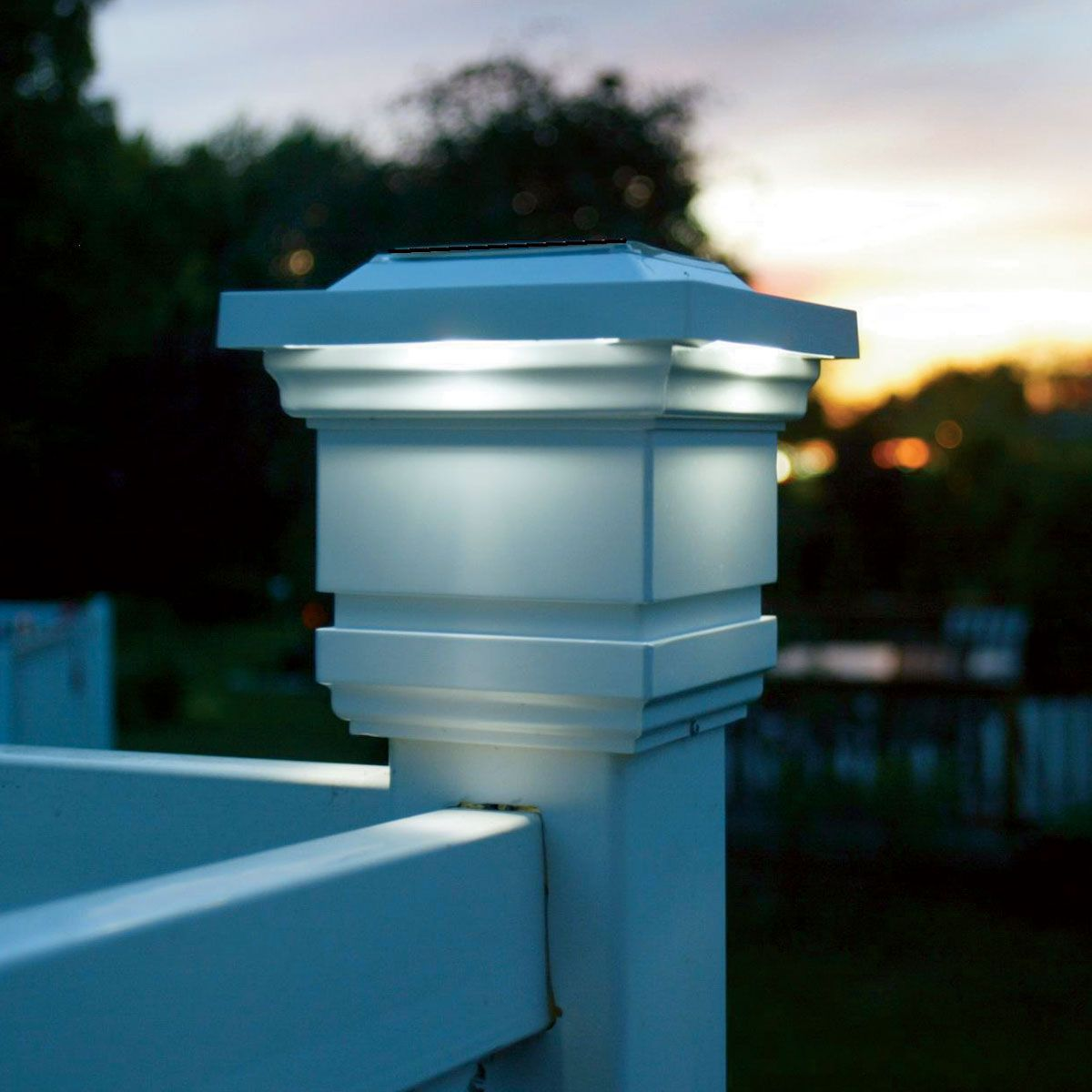 Decorative By Day Radiant By Night Enhance The Beauty And Charm Of Your Home With The Addition Of These Attractive Solar Lamp Post Light Vinyl Fence Post Cap