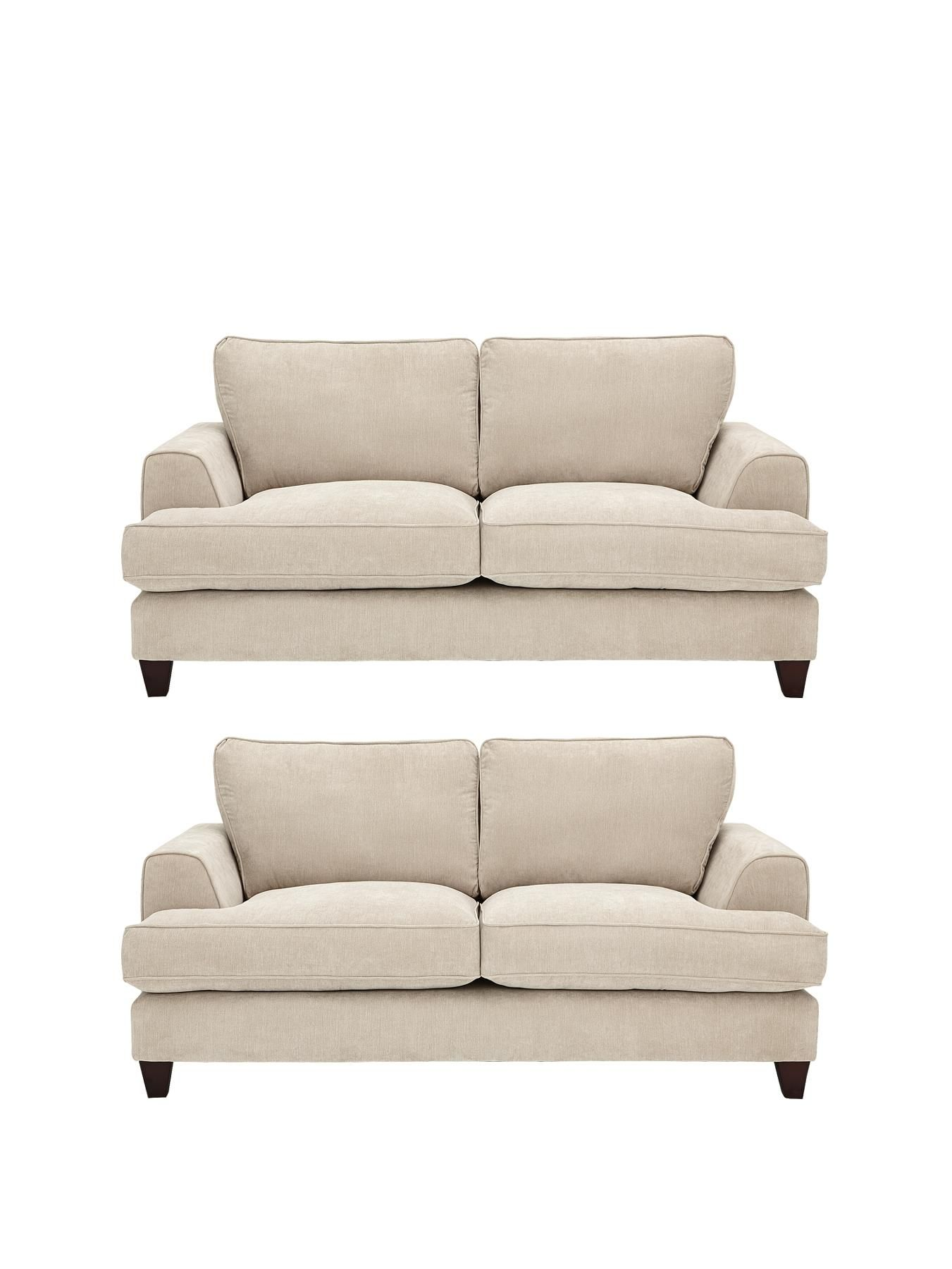 Camden 2-Seater + 2-Seater Fabric Sofa Set (Buy and SAVE!) | very.co.uk