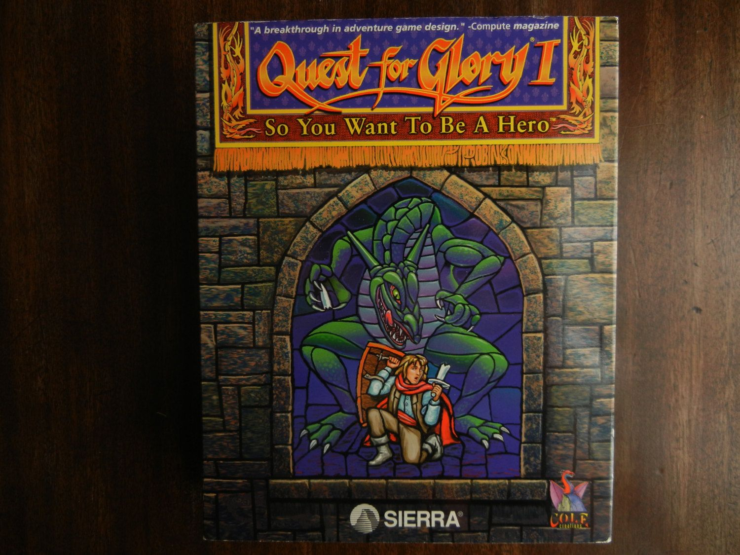 Sierra Computer Game Quest for Glory 1 So You Want To