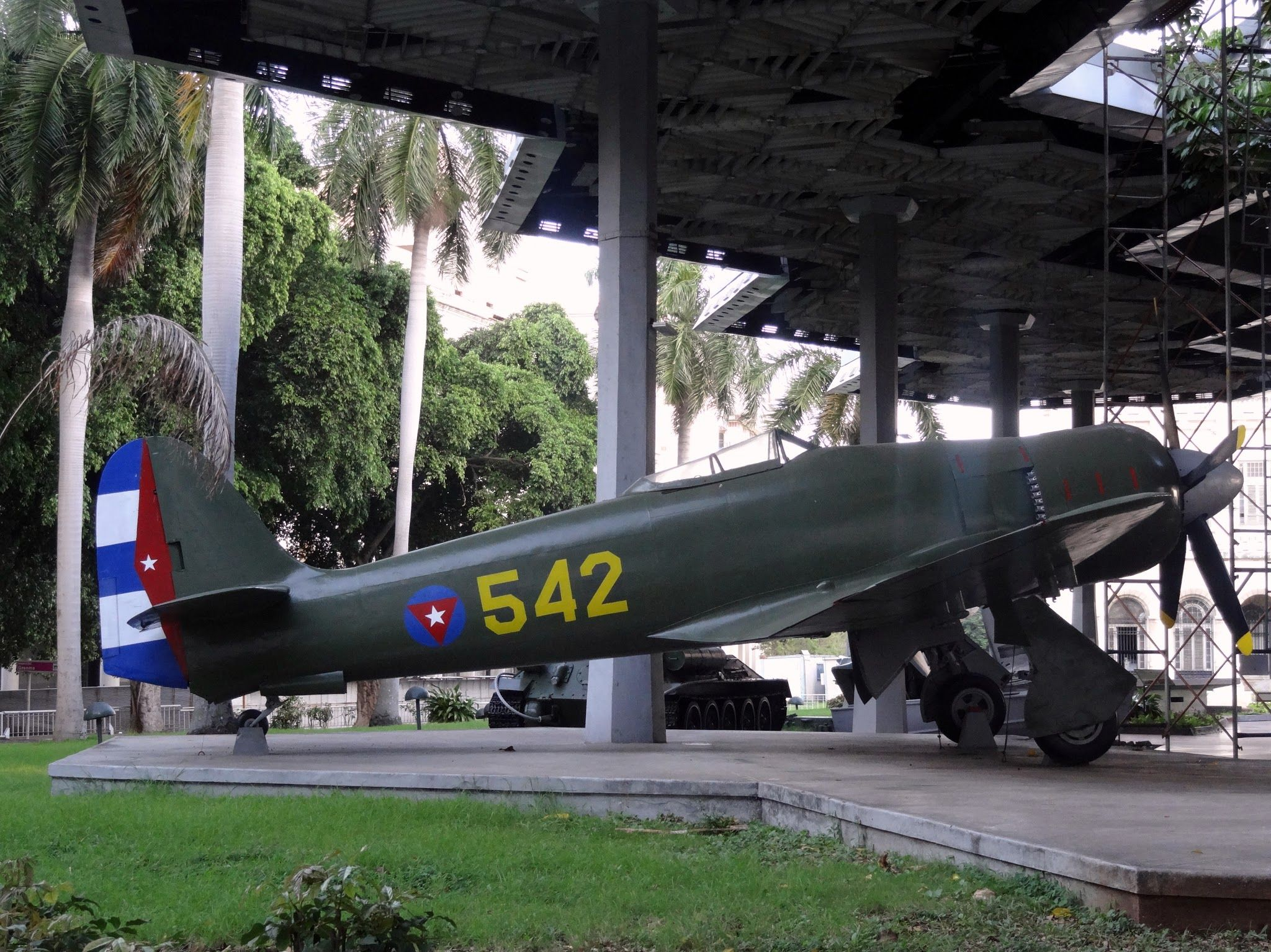 Cuban military plan in front of Museum of the Revolution. Photo taken by Brian Kaylor during a trip for the COEBAC's 40th anniversary celebration at Iglesia Bautista Enmanuel (Emmanuel Baptist Church) in Ciego de Ávila, Cuba.