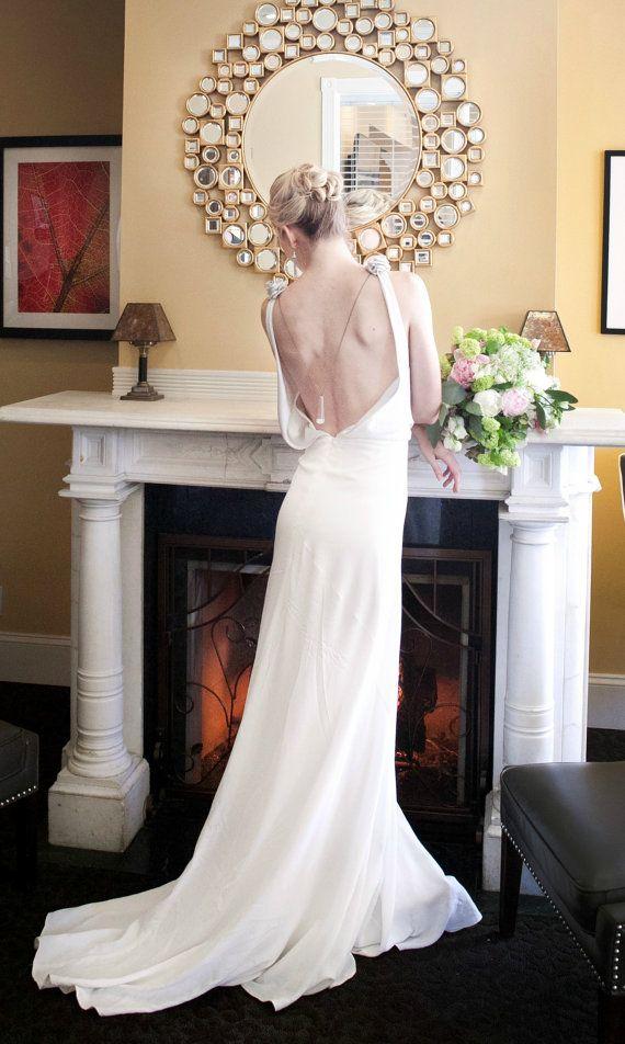 Backless Wedding Dress, 1930, 1920, Art Deco, Vintage Inspired ...