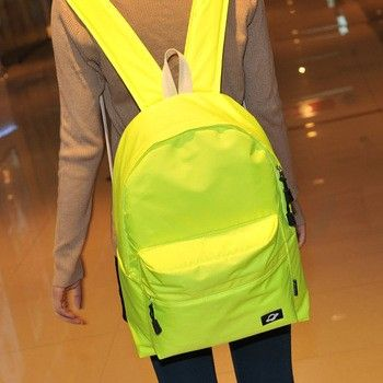 new fashion Neon color brief backpack school casual book travel ...