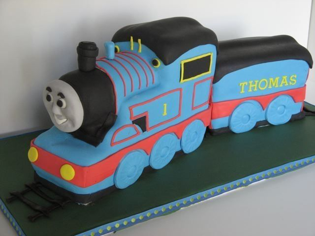 Thomas the Tank Engine cake for two 3 year old boys birthday