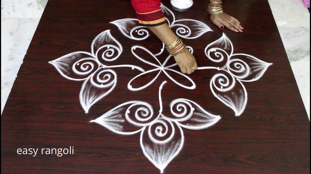 How to draw easy  simple kolam with dots latest rangoli designs also design rh pinterest
