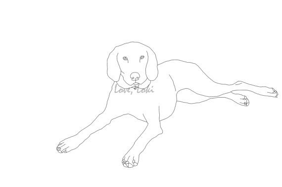 Good German Shorthair Pointer Coloring Page Printable By LoveLoki, $1.50