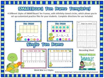 Smartboard Ten Frame Templates And Printables  Math Center
