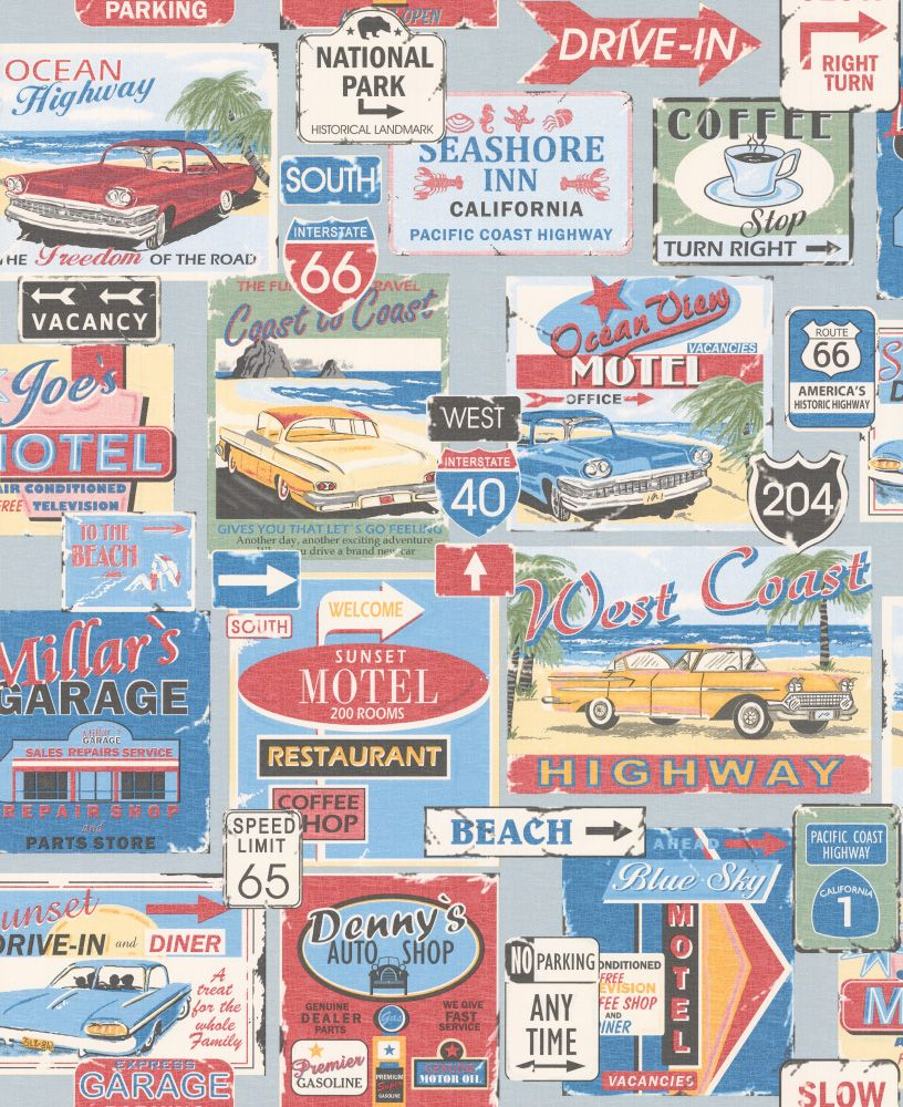 fun and bright 1950 39 s american diner style wallpaper by galerie walls wallpaper. Black Bedroom Furniture Sets. Home Design Ideas