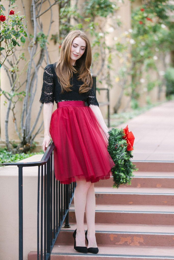 abfc890bb1 The Wendy - Burgundy 25, Space 46 tulle skirt, adult tutu, holiday outfit  inspirations, burgundy midi skirt, holiday lookbook, womens fashion, ...