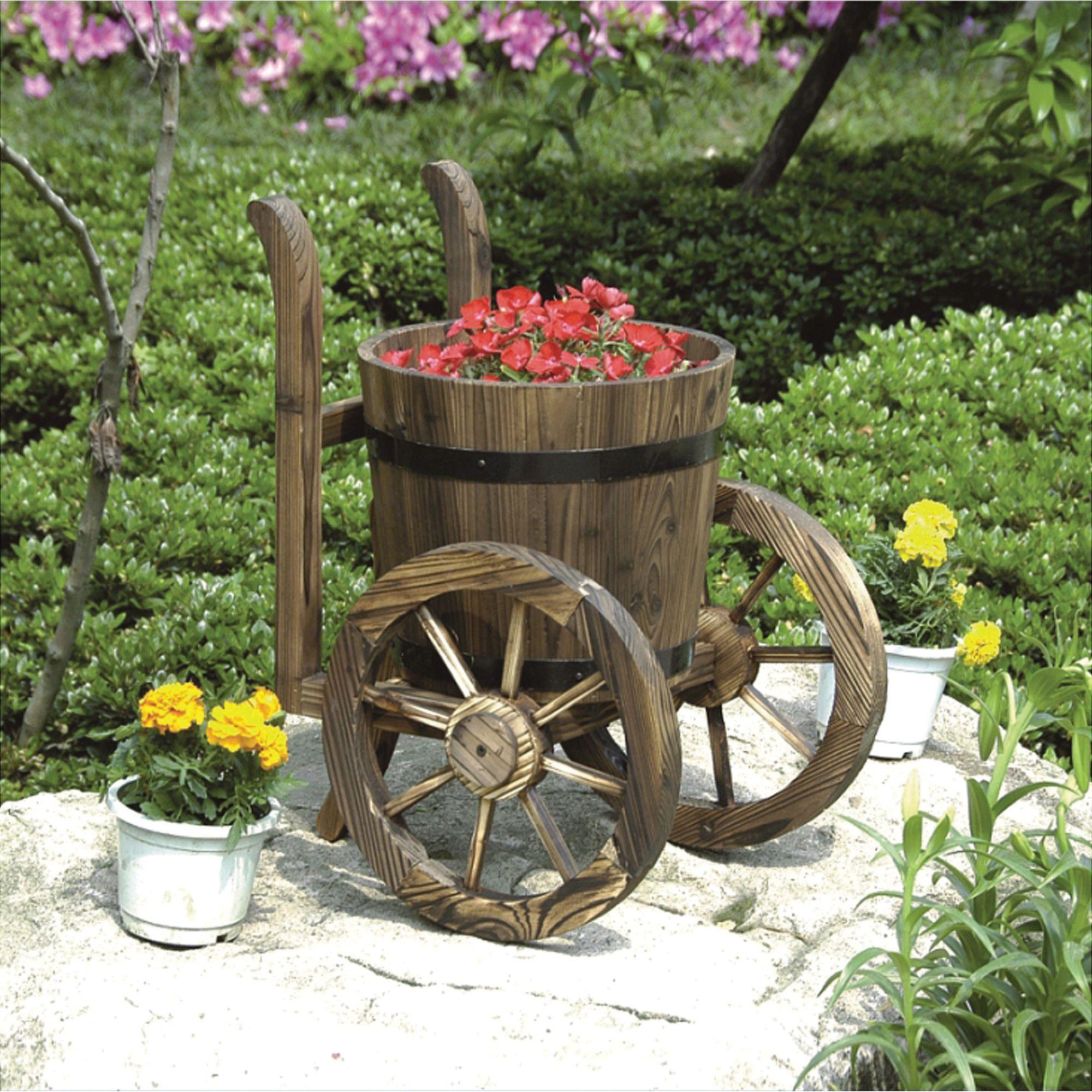Stonegate Designs Wooden Barrel Planter — Model# DSL-1203 | Barrels ...