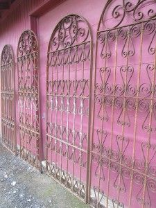 Four French Antique Vintage Wrought Iron Panels Gates Room Garden Dividers Wrought Iron Fences Wrought Iron Fence Panels Iron Fence