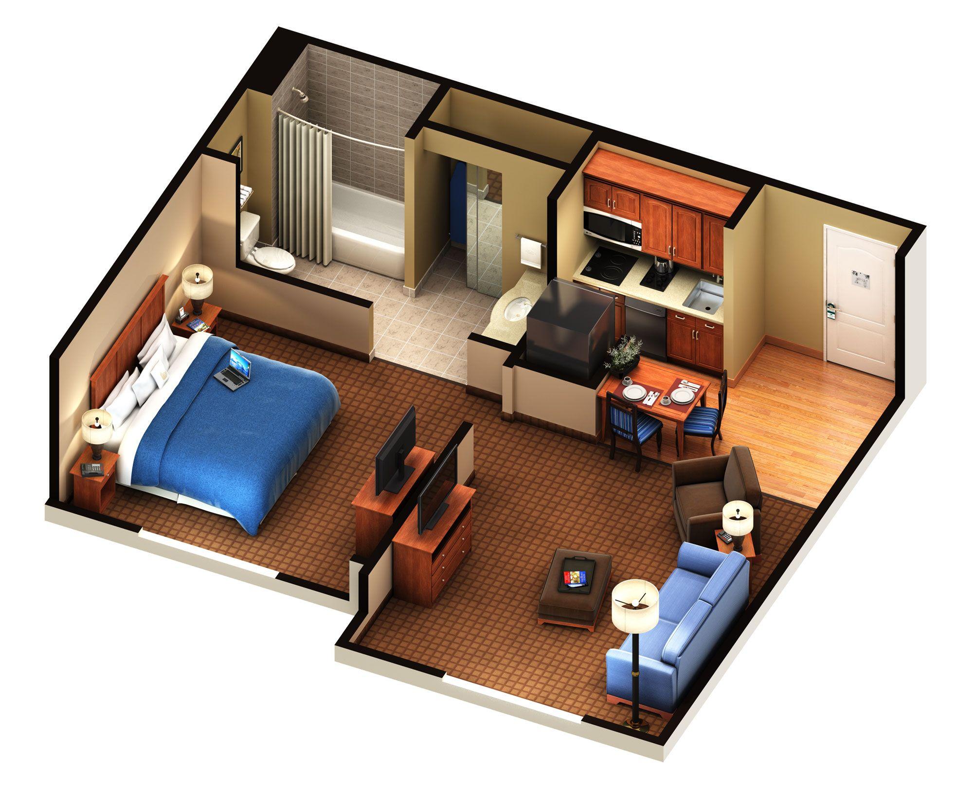 One Bedroom Suit Floor Plan | House Plan in 2019 | Bedroom ...