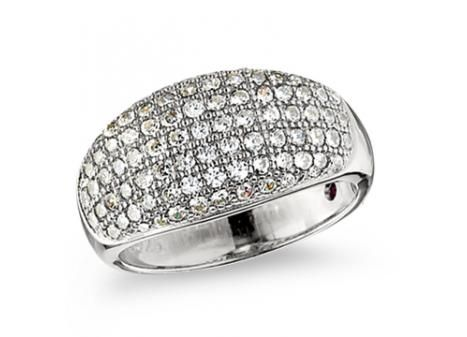"""Elle"" Sterling Silver Crystal Round Ring $169.00"