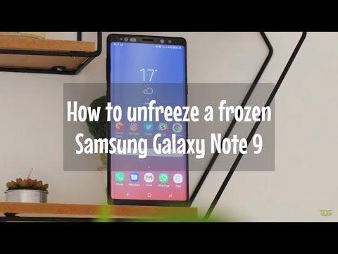 How to unfreeze a fr