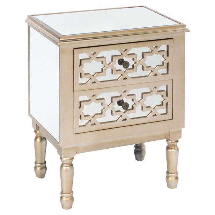 table de chevet tiroirs hannah style oriental arabesque. Black Bedroom Furniture Sets. Home Design Ideas