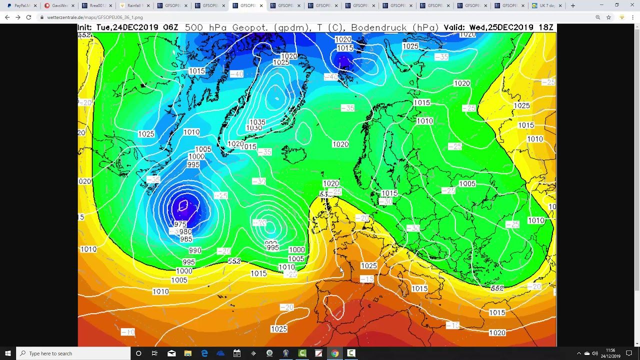 Weather Forecast For The Week Ahead: Christmas Eve 2019 | Weather forecast, Solar activity, Weather