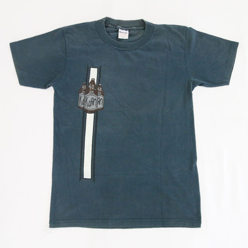 Vtg 1995 Korn 40 Oz Bottles 90s T Shirt Bowling Rock Nu Metal Rare Badly Drawn Tshirt Short Circuit Mens Buy Online At Grindstore Visit