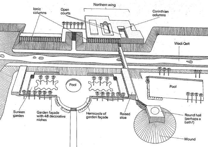 diagram of price elasticity of demand jericho: bible architecture: drawing of herod's third ...