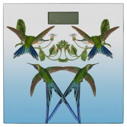 Hummingbird Birds Animals Flowers Bathroom Scale