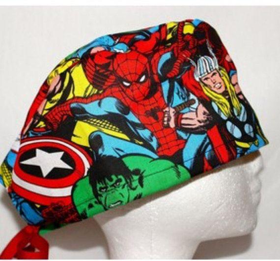 Super Hero Scrub Hat