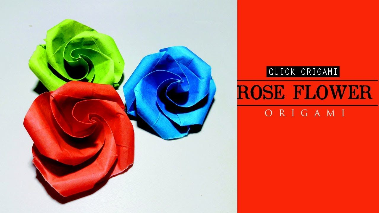 How To Make Easy And Simple Paper Rose Flower For Kidseasy Origami