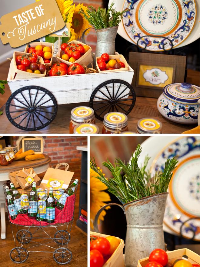 A taste of tuscany italian dinner party party ideas for Italian party