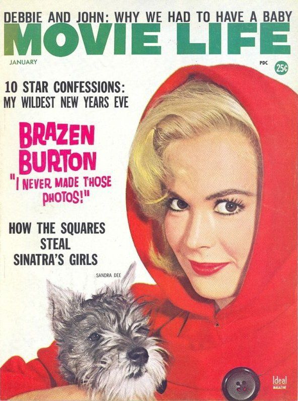 Sandra Dee - Movie Life Magazine Cover [United States] (January 1963) I had an aunt that would give me stacks of these magazines, giving me hours of delightful reading