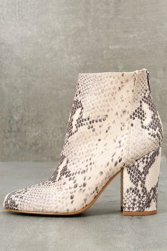 a7d49b97c8d Star Natural Leather Snake Print Ankle Booties | Shoes | Snake boots ...
