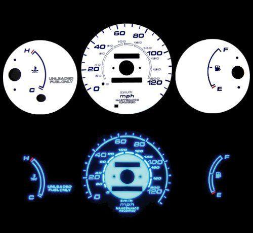96 00 Honda Civic Cx Dx No Tach Mt Blue Indiglo El Gauges White By High Performance Parts 32 00 Performance Parts Civic Home Hardware